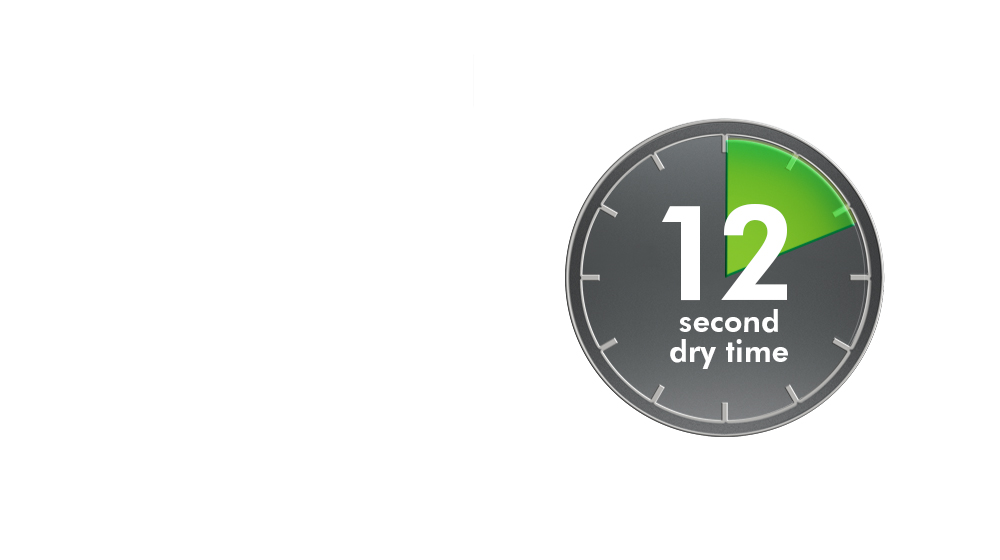 10 second dry time of a Dyson Airblade V hand dryer
