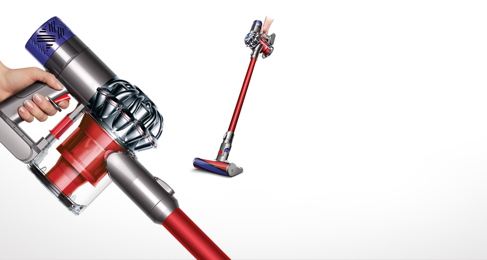 Cordless vacuum cleaner with animation